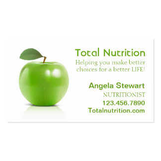 Nutricionista con Apple Plantillas De Tarjetas De Visita