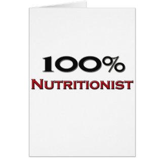 Nutricionista del 100 por ciento tarjeton