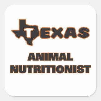 Nutricionista del animal de Tejas Pegatina Cuadrada