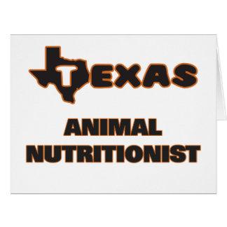 Nutricionista del animal de Tejas Tarjeta De Felicitación Grande