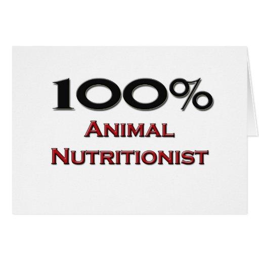Nutricionista del animal del 100 por ciento tarjetas