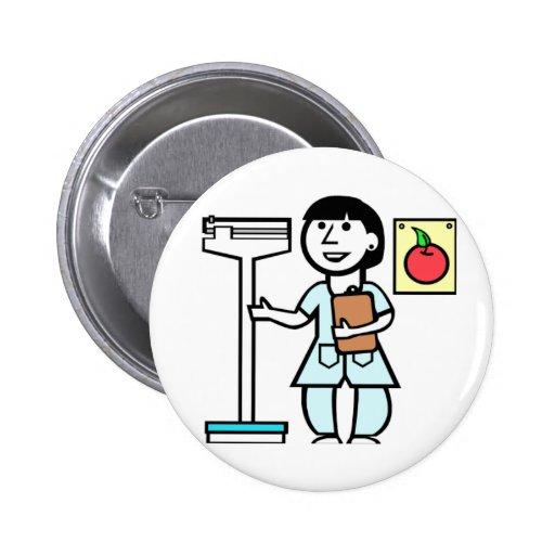Nutricionista del botón pin