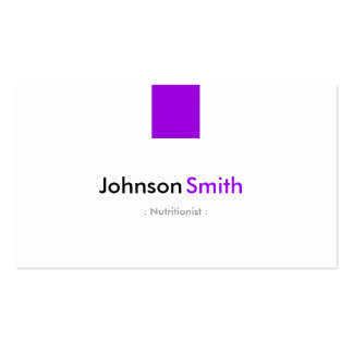 Nutricionista el dietético - violeta púrpura tarjetas de visita