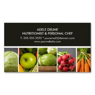 Nutricionista elegante moderno del cocinero del tarjetas de visita magnéticas (paquete de 25)