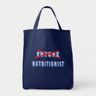 Nutricionista futuro no más bolsa tela para la compra