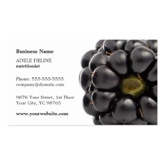 Nutricionista moderno único de la fruta de tarjetas de visita