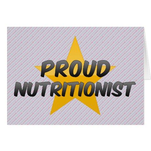 Nutricionista orgulloso felicitacion