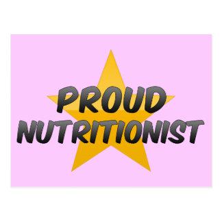 Nutricionista orgulloso tarjetas postales