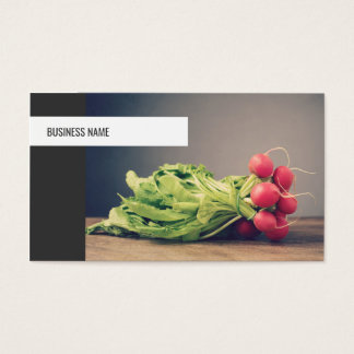 Nutricionista personal vegetal único moderno del tarjeta de negocios