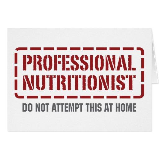 Nutricionista profesional tarjetas