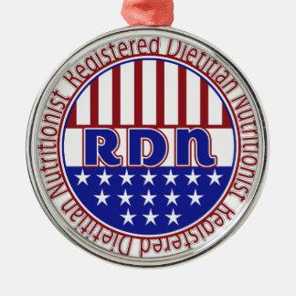 Nutricionista registrado RDN el dietético Adorno Navideño Redondo De Metal