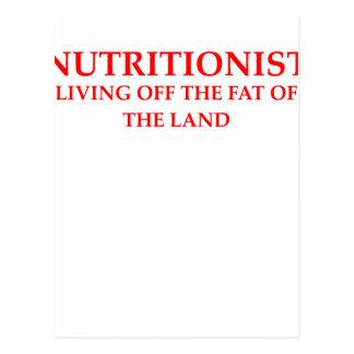 nutricionista tarjetas postales