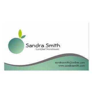 Nutricionista - tarjetas de visita