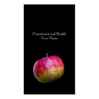 Nutricionista y salud tarjetas de visita