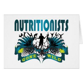 Nutricionistas idos salvajes tarjeta de felicitación