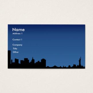 ny, nombre, dirección 1, compañía, título, otro, tarjeta de negocios