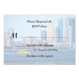 NY - Productos del boda del taxi del agua de NY Invitación 8,9 X 12,7 Cm