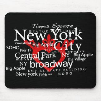 NYC en mi corazón Mousepad Alfombrilla De Ratón