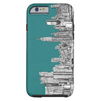 NYC en verde de la turquesa Funda Para iPhone 6 Tough