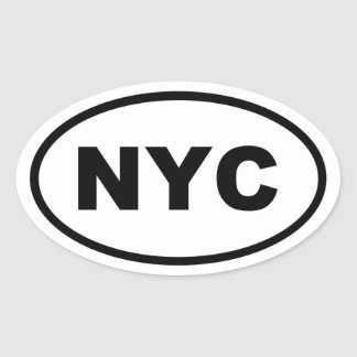 NYC New York City Pegatina Ovalada