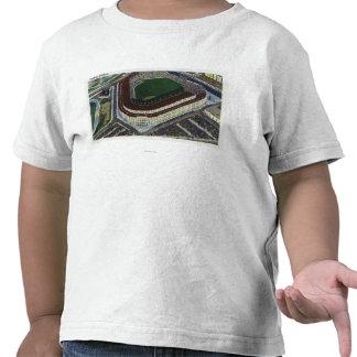 NYC, nueva opinión de YorkAerial del Yankee Camiseta