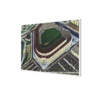 NYC, nueva opinión de YorkAerial del Yankee Stadiu Impresión En Lienzo