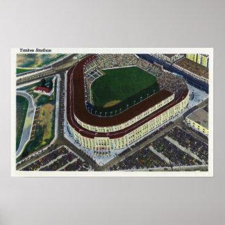 NYC, nueva opinión de YorkAerial del Yankee Stadiu Póster
