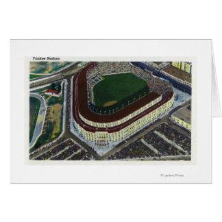 NYC, nueva opinión de YorkAerial del Yankee Stadiu Tarjeta De Felicitación