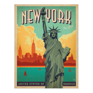 NYC - Señora Liberty Postal