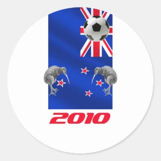 NZ 2010 todos los regalos del fútbol de los Etiqueta Redonda