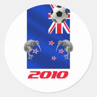 NZ 2010 todos los regalos del fútbol de los Pegatina Redonda