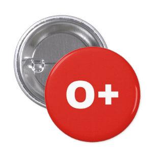O+ Insignia positiva el derecho del tipo/del grupo Chapa Redonda De 2,5 Cm