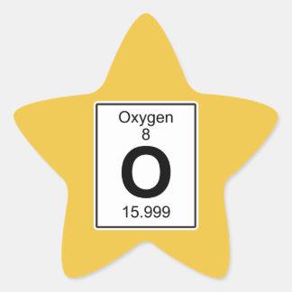 O - Oxígeno Pegatina En Forma De Estrella