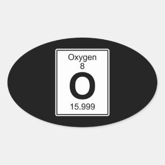 O - Oxígeno Pegatina Ovalada