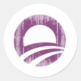 O púrpura Faded.png Pegatina Redonda