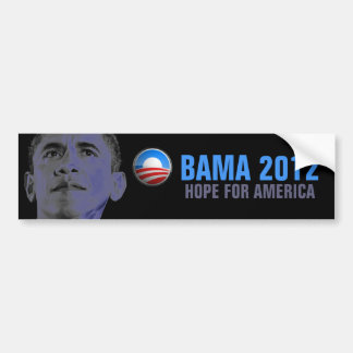 Obama 2012 - Esperanza de América Etiqueta De Parachoque