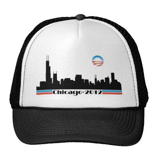 Obama 2012 - Horizonte de Chicago Gorro De Camionero