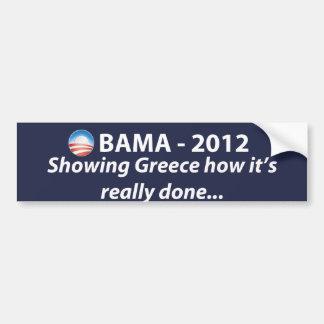 OBAMA 2012 - Mostrando Grecia… Pegatina Para Coche