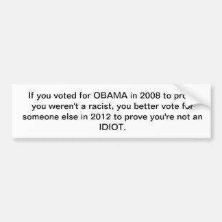 Obama 2012 pegatina para coche