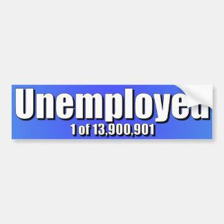 Obama anti - desempleo pegatina para coche