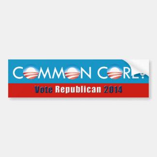 ¿Obama (base común? Pegatina para el parachoques