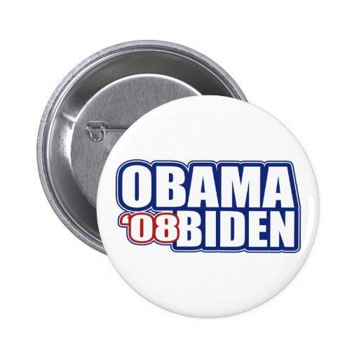 Obama Biden '08 botones Chapa Redonda 5 Cm