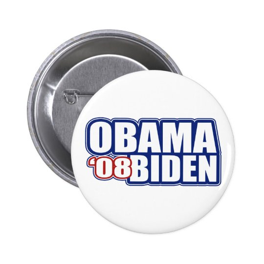 Obama Biden '08 botones Chapa Redonda De 5 Cm
