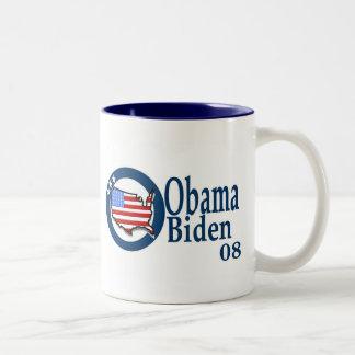 Obama Biden 08 Taza De Dos Tonos