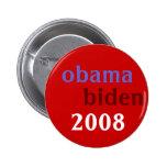 Obama Biden 2008 Pin