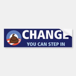 Obama: Cambio usted puede caminar adentro Pegatina Para Coche