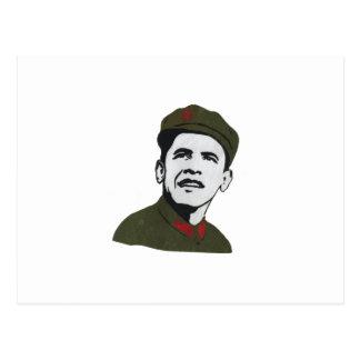 Obama como diseño de Che Guevara Postal