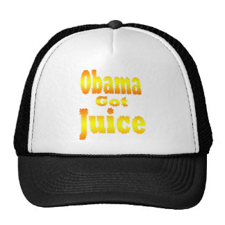 Obama consiguió a jugo amarillo anaranjado gorra
