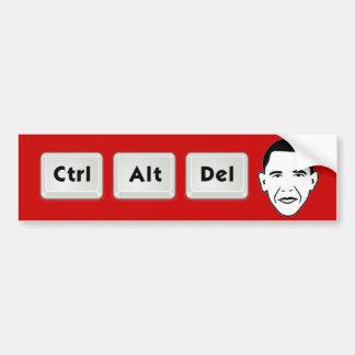 Obama: Ctrl-Alt-Del Pegatina De Parachoque