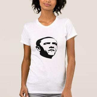 Obama en negro y blanco camiseta